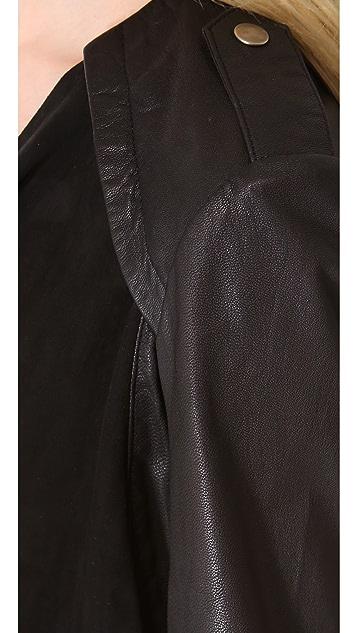 Muubaa Louis Draped Biker Jacket