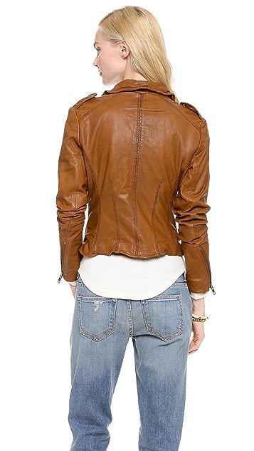 Muubaa Sabi Leather Biker Jacket