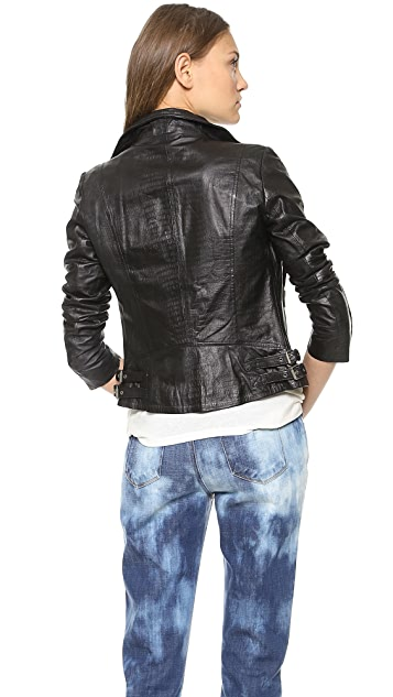 Muubaa Leather Biceta Biker Jacket