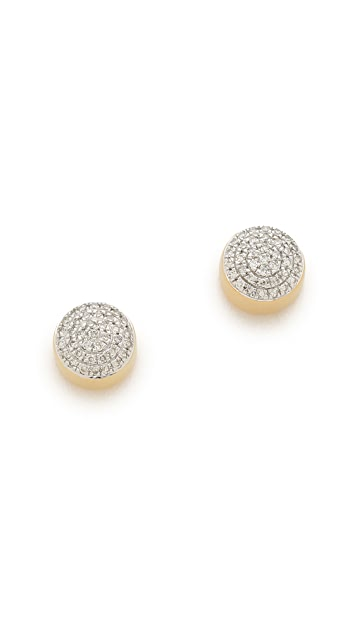 Monica Vinader Ava Button Stud Earrings