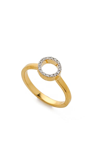 Monica Vinader Naida Mini Circle Open Ring