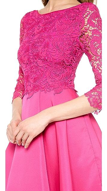 Marchesa Voyage Guipure Lace Dress