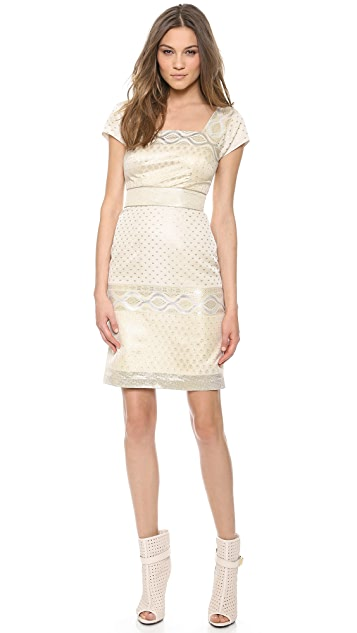 Marchesa Voyage Cap Sleeve Dress