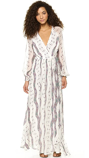 Marchesa Voyage Maxi Wrap Dress