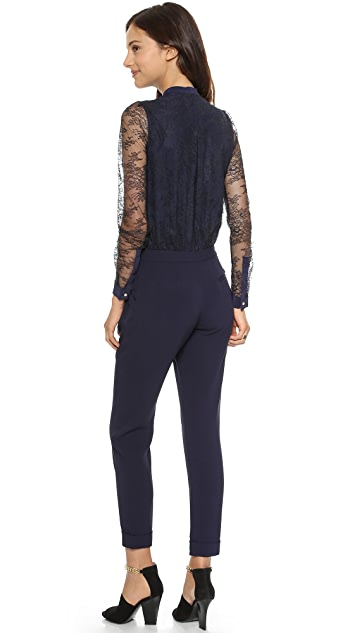 Marchesa Voyage Buttoned Yoke Jumpsuit