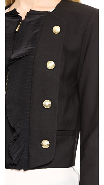Marchesa Voyage Pleated Front Jacket
