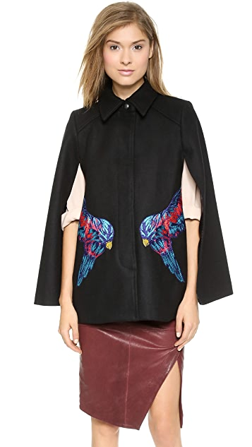 Marchesa Voyage Embroidered Cape