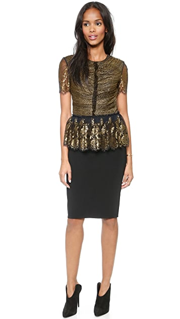 bf8748a3d108f9 Marchesa Voyage Lace Ruffle Top | SHOPBOP