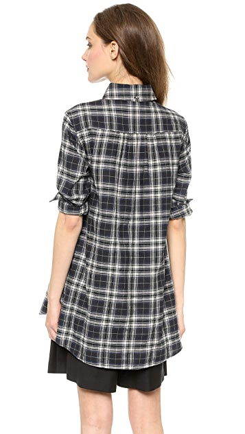 Marissa Webb Emma Errit Plaid Flannel Blouse