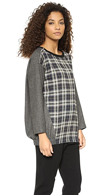 Marissa Webb Jodi Gerrit Plaid Top
