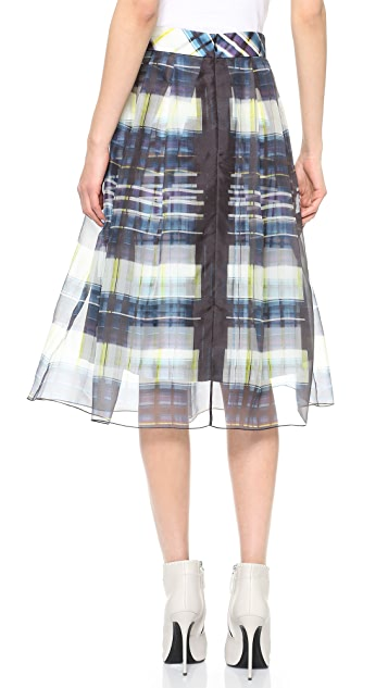 Marissa Webb Carine Window Plaid Skirt