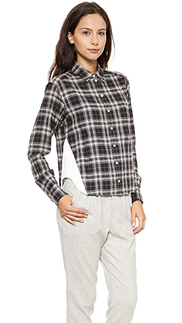Marissa Webb Estella Gerrit Plaid Blouse