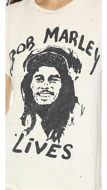 MADEWORN ROCK Bob Marley Rock Printed Tee