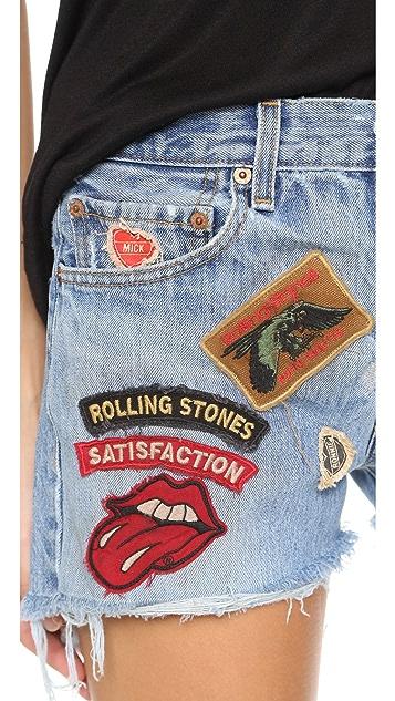 MADEWORN ROCK Rolling Stones Shorts