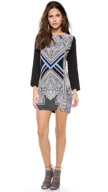 Myne Shift Dress with Contrast Sleeves