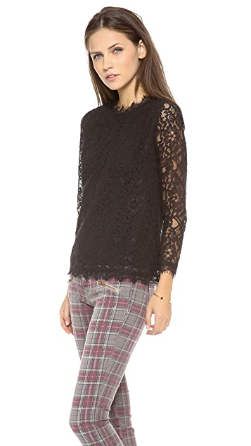 Myne Bree 3/4 Sleeve Lace Blouse