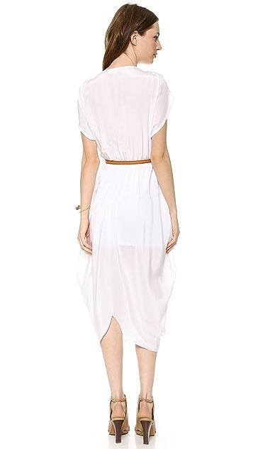 Myne Heidi Belted V Neck Dress
