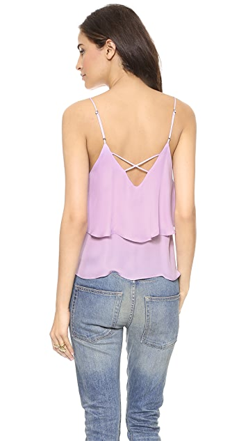 Myne Loren Silk Double Layer Tank