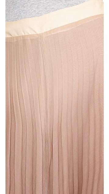 Myne Slate Pleated Midi Skirt
