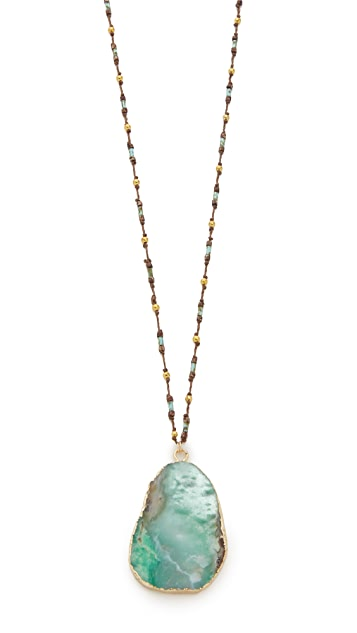 Native Gem Chrysoprase Handcrochet Necklace