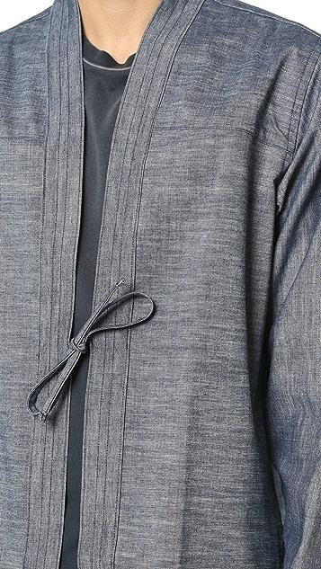 Naked & Famous Kimono Selvedge Chambray Shirt
