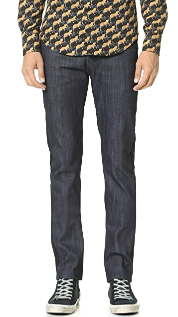 Naked & Famous Super Skinny Guy Color Block Jeans