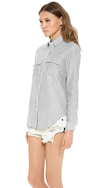 re:named Varsity Button Up Shirt