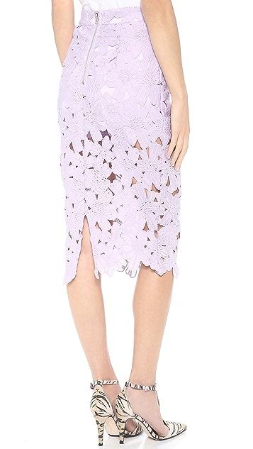 re:named Flower Midi Skirt