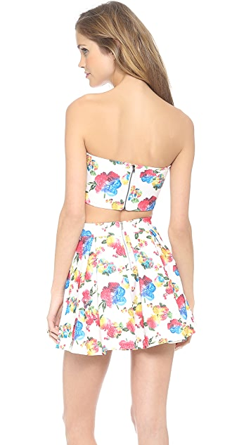 re:named Floral Print Bandeau Top