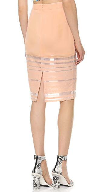 re:named Sheer Lines Pencil Skirt