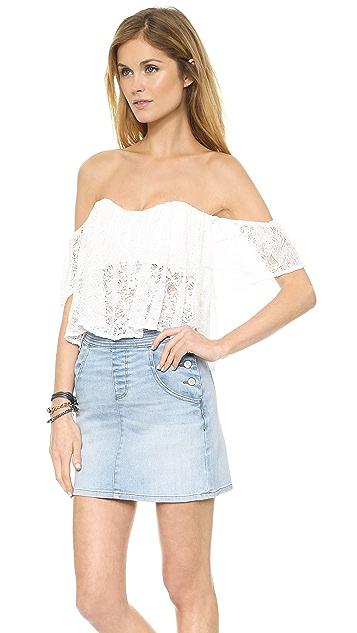 re:named Lace Off Shoulder Top
