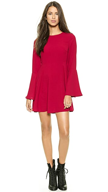 re:named Solid Bell Sleeve Dress