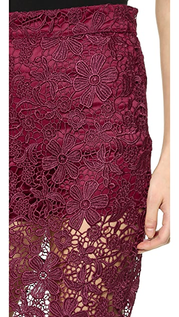 re:named Lace Pencil Skirt