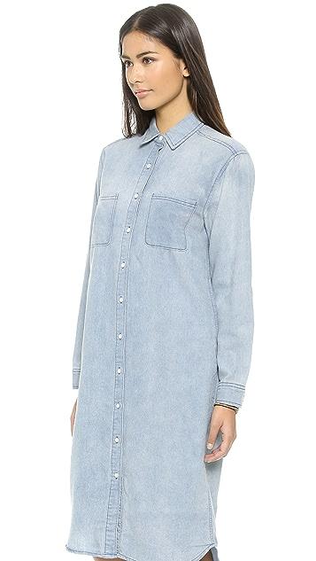 re:named Denim Shirtdress