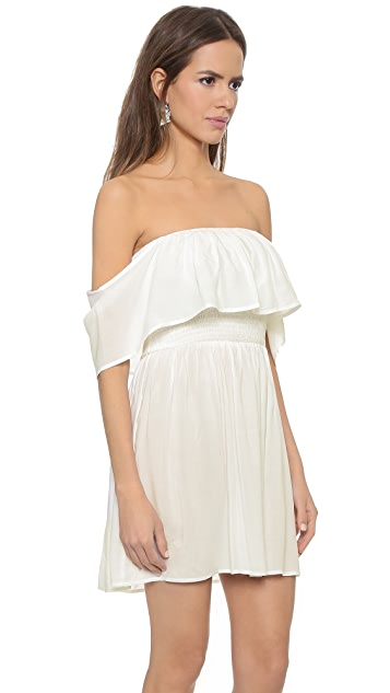re:named Однотонное платье с открытыми плечами