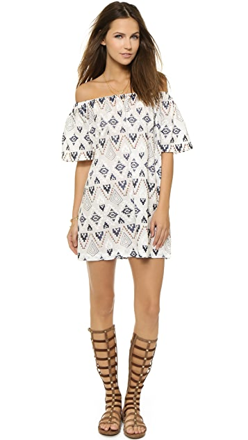 re:named Aztec Off Shoulder Dress