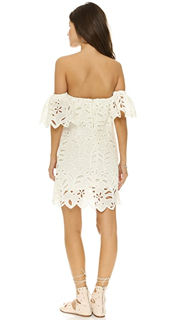re:named Large Off Shoulder Eyelet Dress