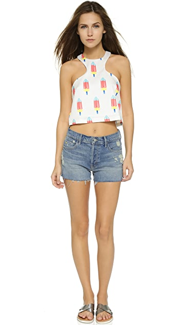 re:named Popsicle Curve Crop Top