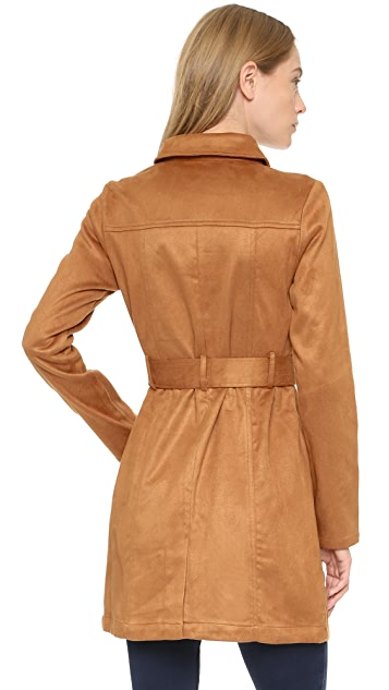 re:named Faux Suede Trench Coat