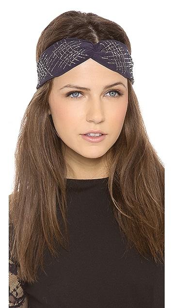 NAMJOSH Sequin Crossed Turban Headband