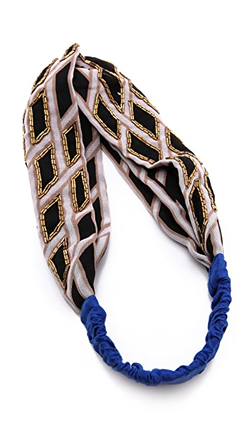 NAMJOSH Cross Weaved Patterned Turban Headband