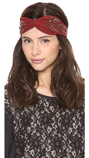 NAMJOSH Sequined Pattered Turban Headband