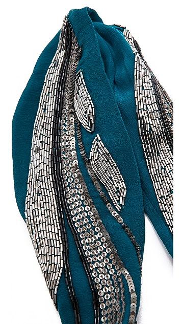 NAMJOSH Sequin Adorned Turban Headband