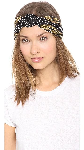 NAMJOSH Polka Dot Turban Headband
