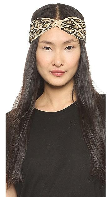 Namrata Joshipura Geometric Turban Headband