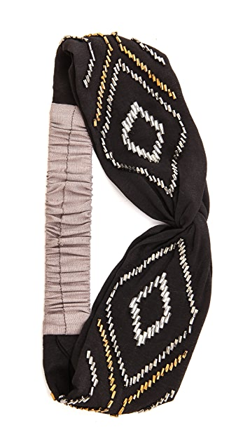 NAMJOSH Beaded Triangle Turban Headband