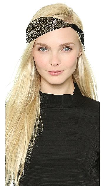 NAMJOSH Asymmetrical Sequin Turban Headband