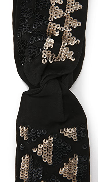 NAMJOSH Sequin Turban Headband