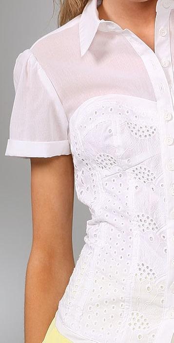 Nanette Lepore Hide Away Shirt