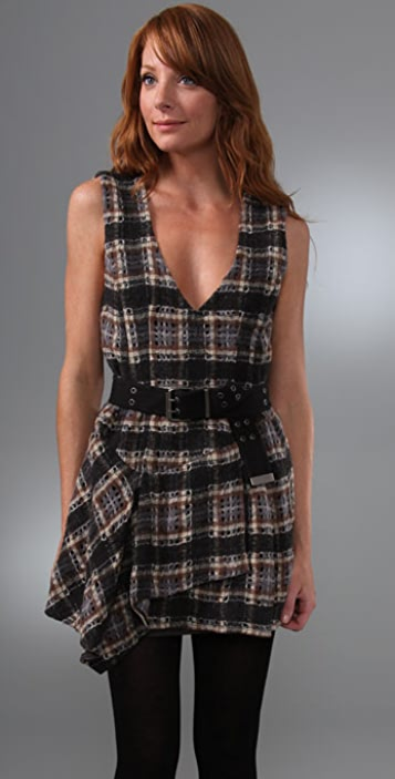 Nanette Lepore On the Beat Plaid Dress